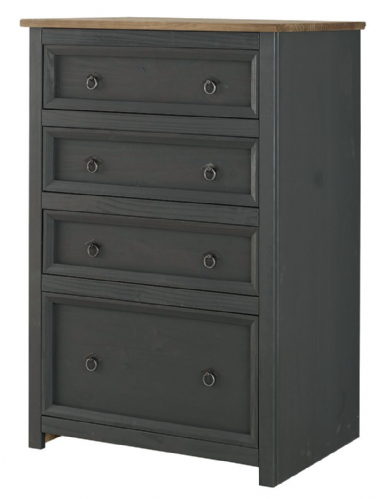 Premium Carbon Corona 4 Drawer Chest